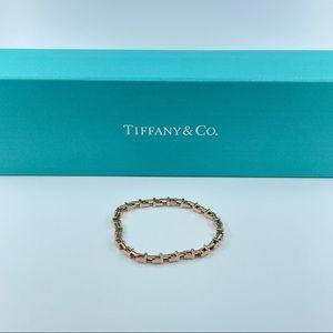 T narrow chain 18k rose gold w/ Tiffany T links
